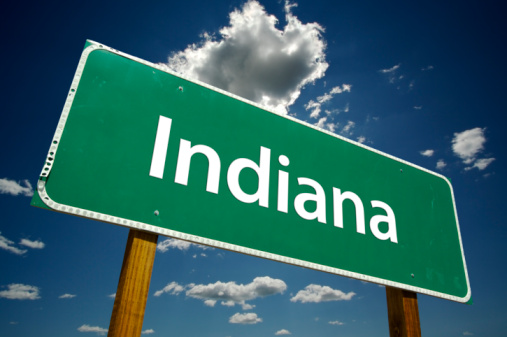 Indiana Road Sign